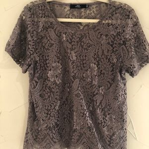 BKE Lace Top, Bronze Size Large